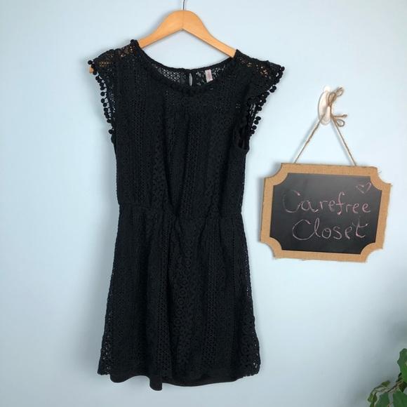 bb65b73bfca Little Black Dress Lace Pom Pom Details Spring. M 5aee750f45b30c7e441929e8